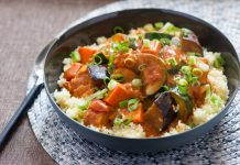 chicken stew with rice and vegetables