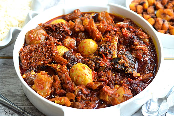 Buka Stew With Assorted Meats (Obe Ata)